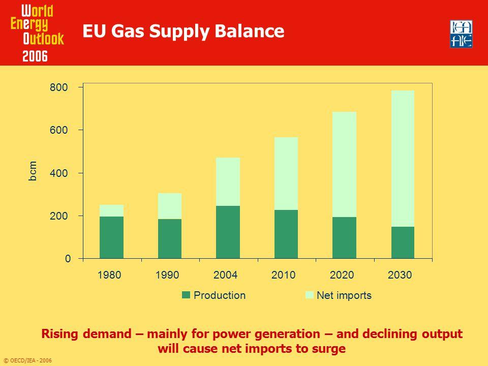 EU Gas Supply Balance 200. 400. 600. 800. 1980. 1990. 2004. 2010. 2020. 2030. bcm. Production.