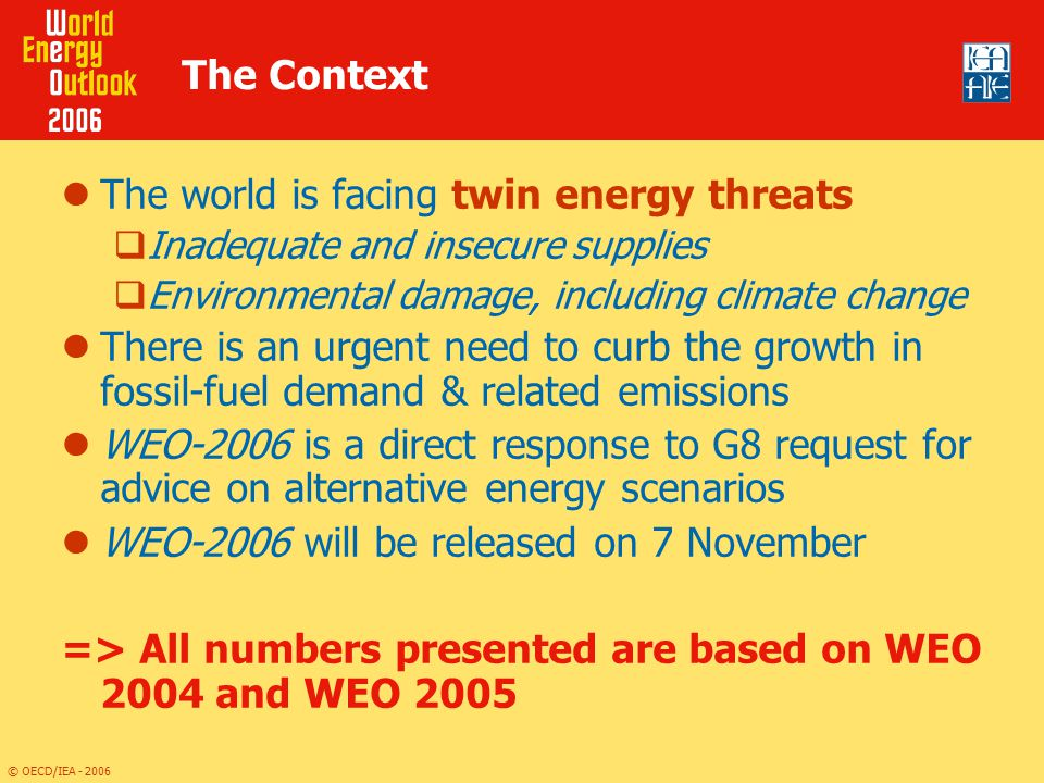 The world is facing twin energy threats