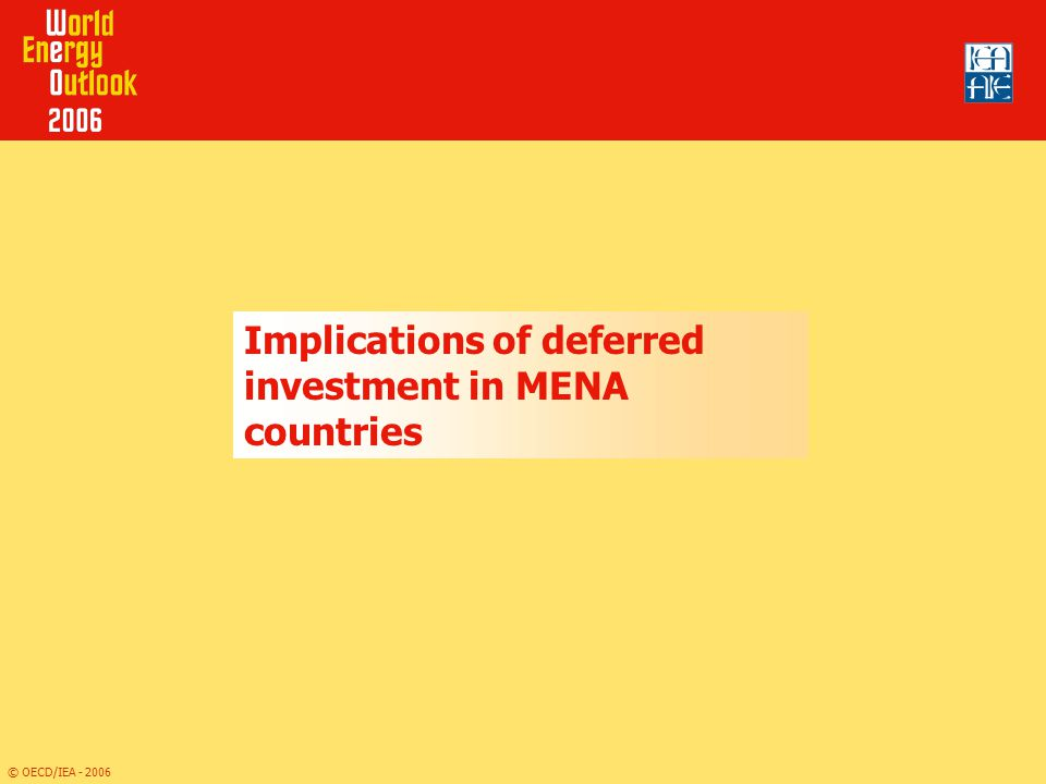 Implications of deferred investment in MENA countries