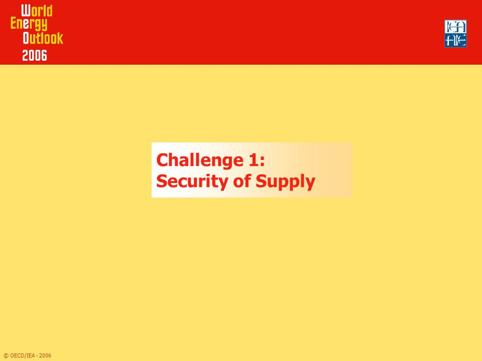 Challenge 1: Security of Supply