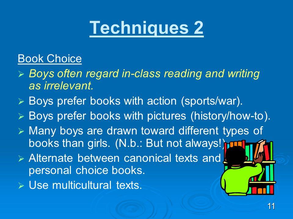 Techniques 2 Book Choice