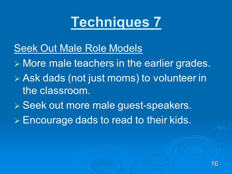Techniques 7 Seek Out Male Role Models