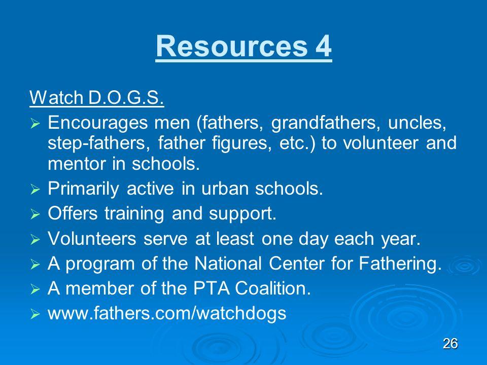 Mind the Gap: Notes Resources 4. Watch D.O.G.S.
