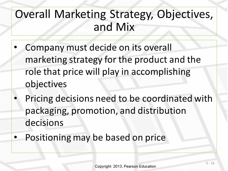 Overall Marketing Strategy, Objectives, and Mix
