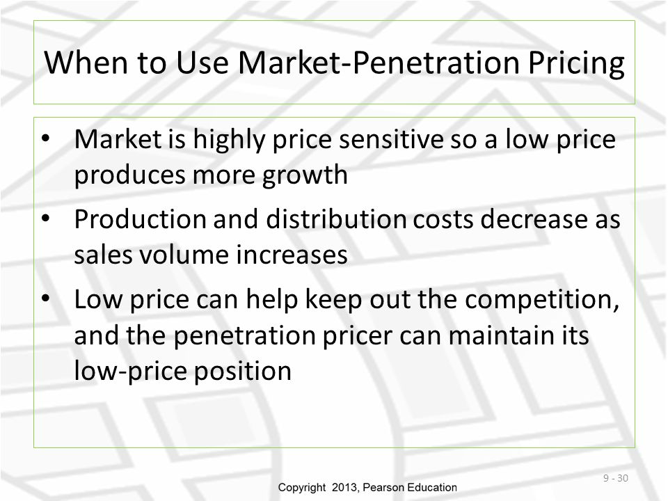 When to Use Market-Penetration Pricing