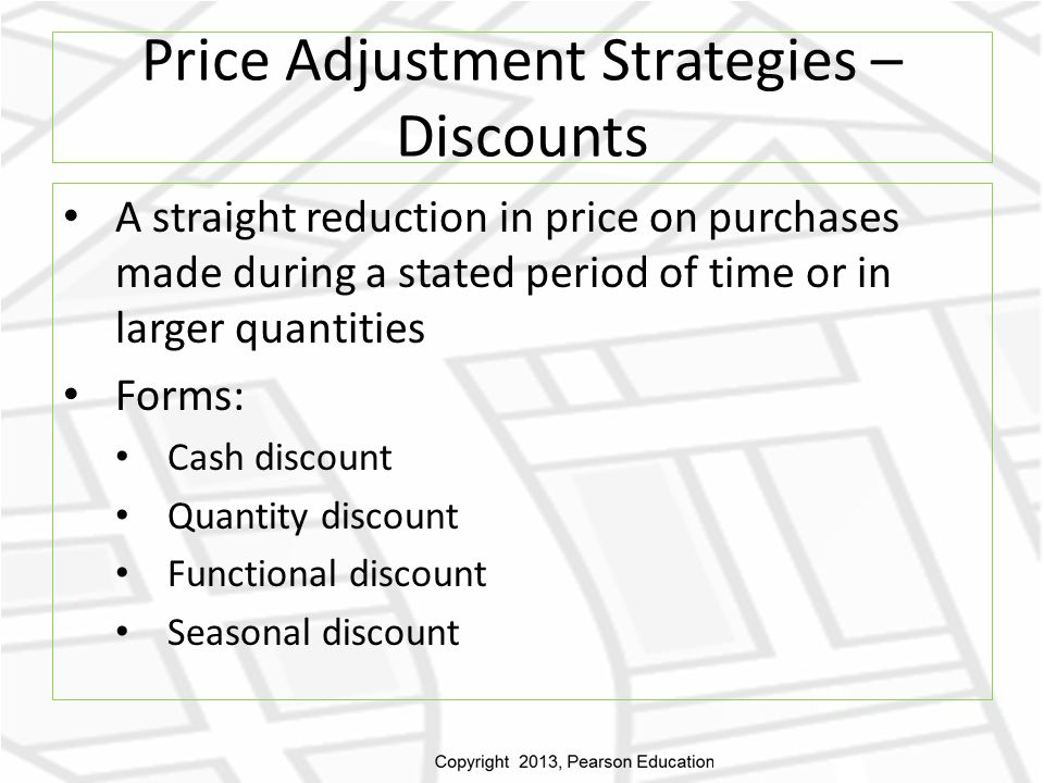 Price Adjustment Strategies – Discounts