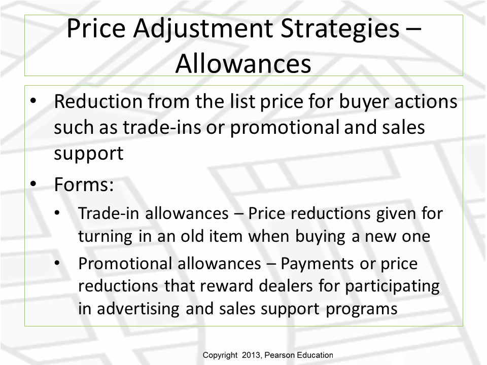 Price Adjustment Strategies – Allowances