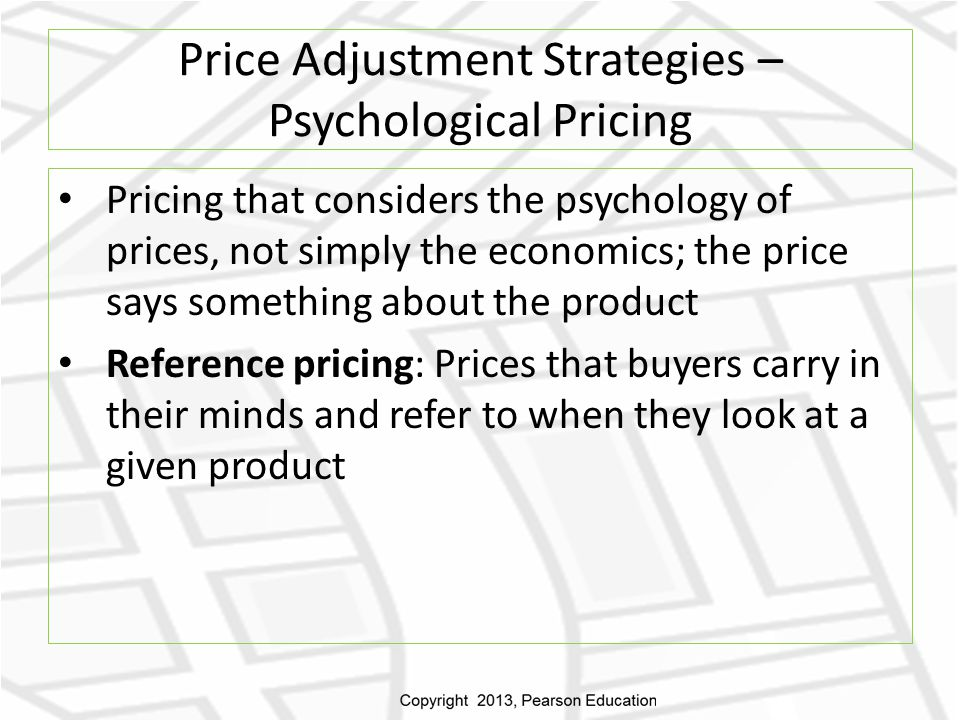 Price Adjustment Strategies – Psychological Pricing