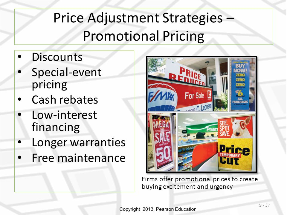 Price Adjustment Strategies – Promotional Pricing