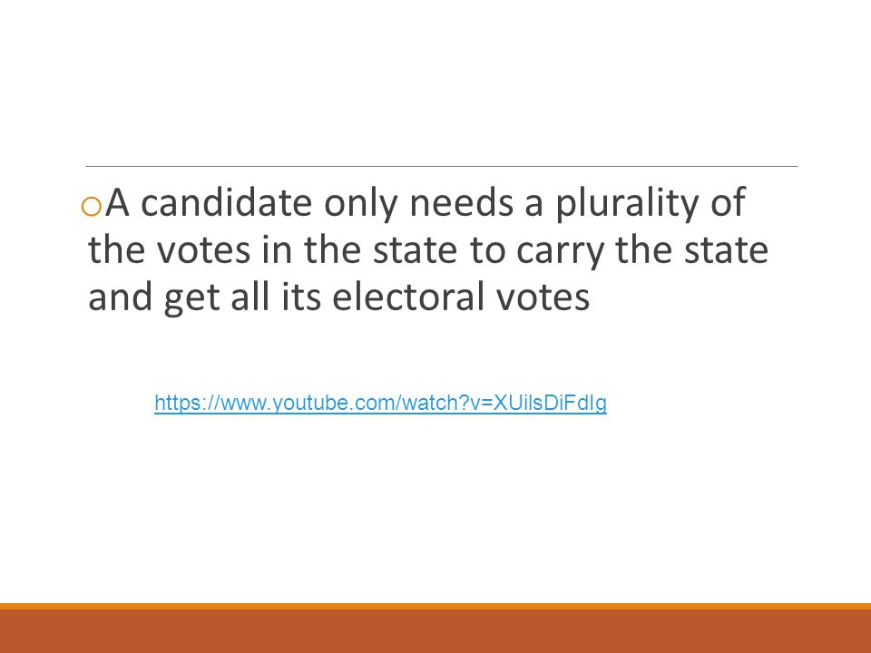 A candidate only needs a plurality of the votes in the state to carry the state and get all its electoral votes