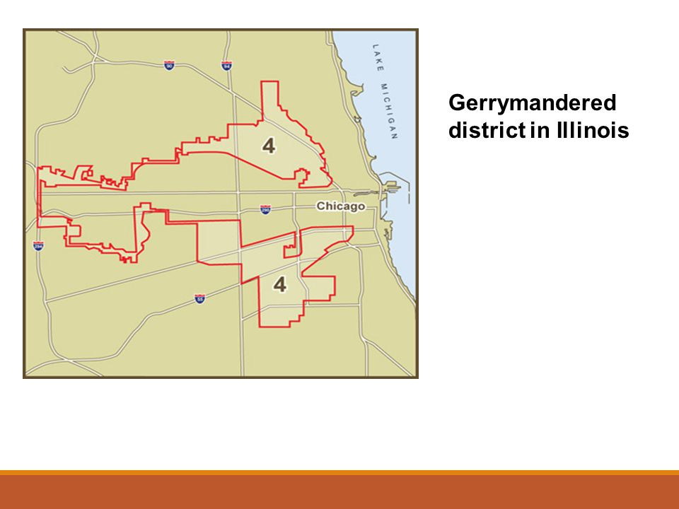 Gerrymandered district in Illinois
