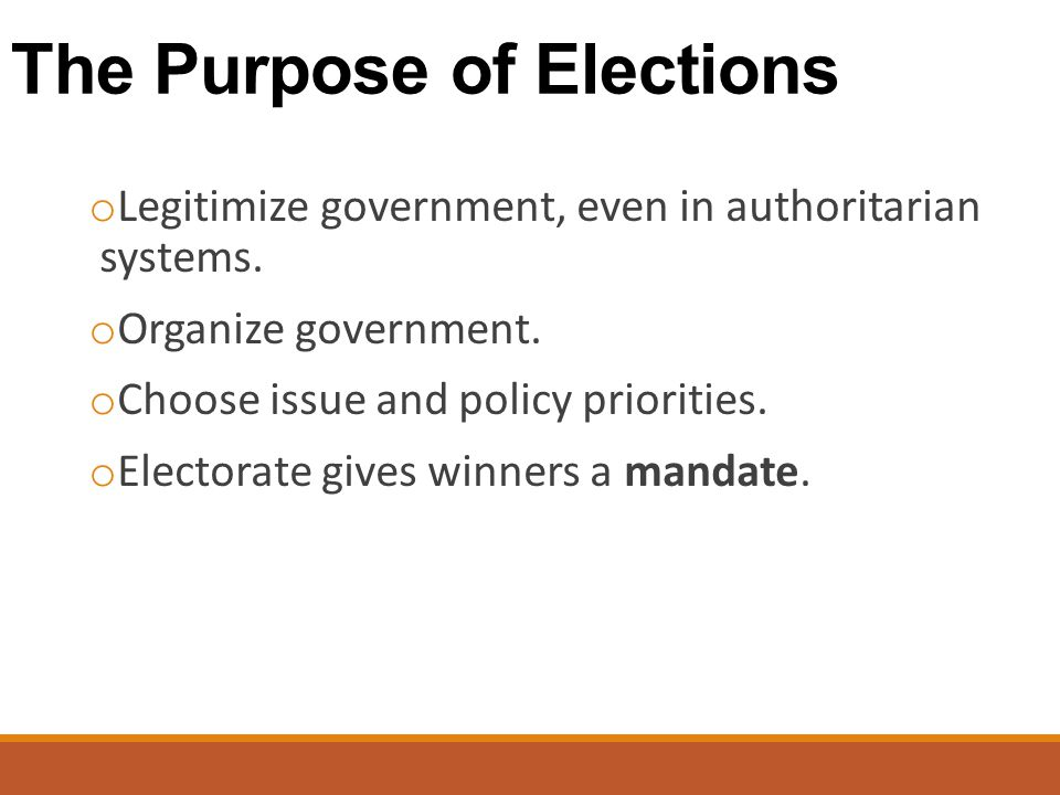 The Purpose of Elections