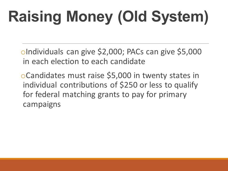 Raising Money (Old System)