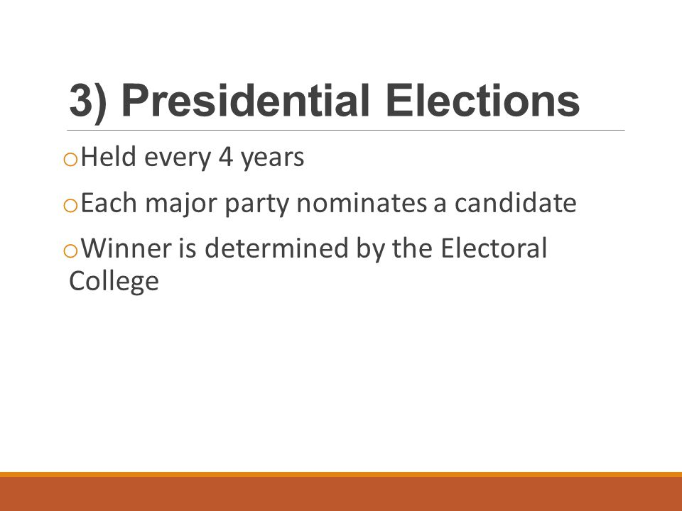 3) Presidential Elections