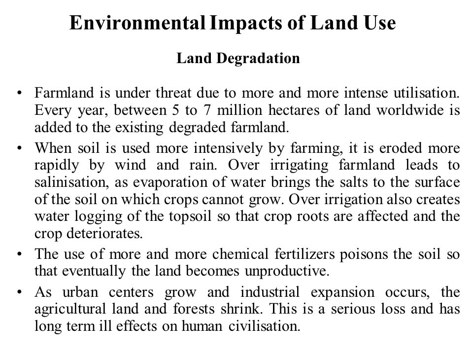 Environmental Impacts of Land Use