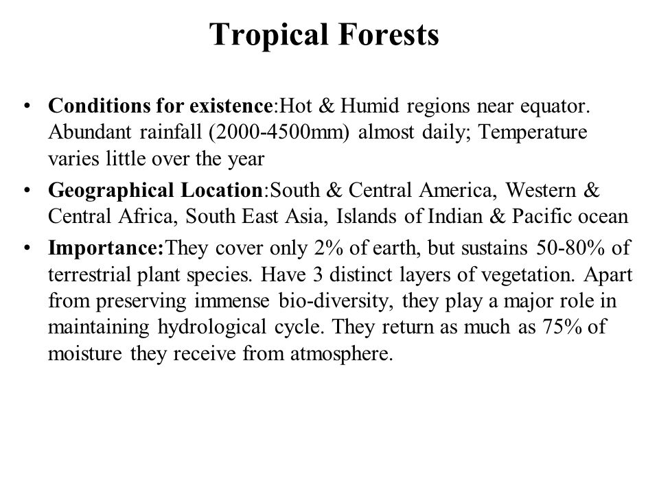 Tropical Forests