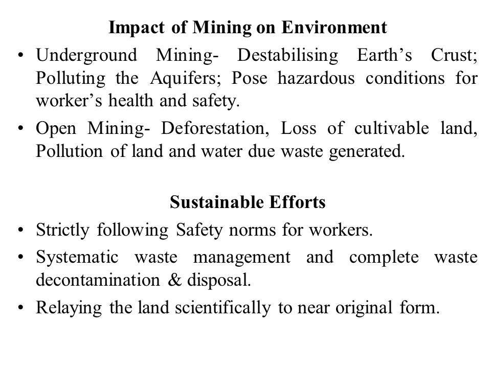 Impact of Mining on Environment