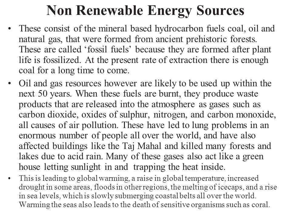 Non Renewable Energy Sources