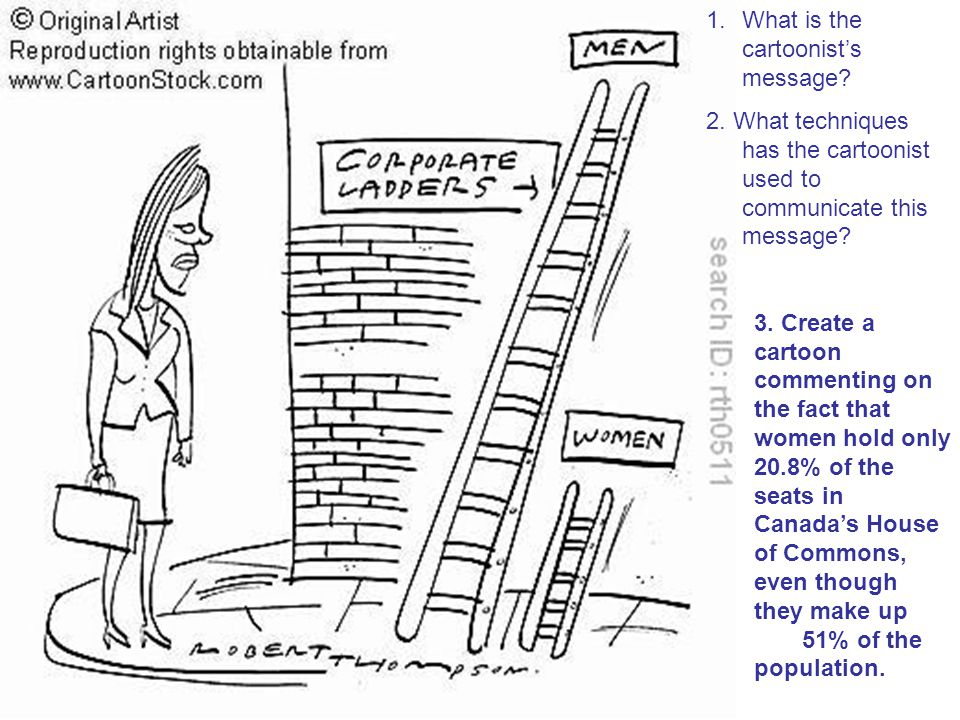 What is the cartoonist's message