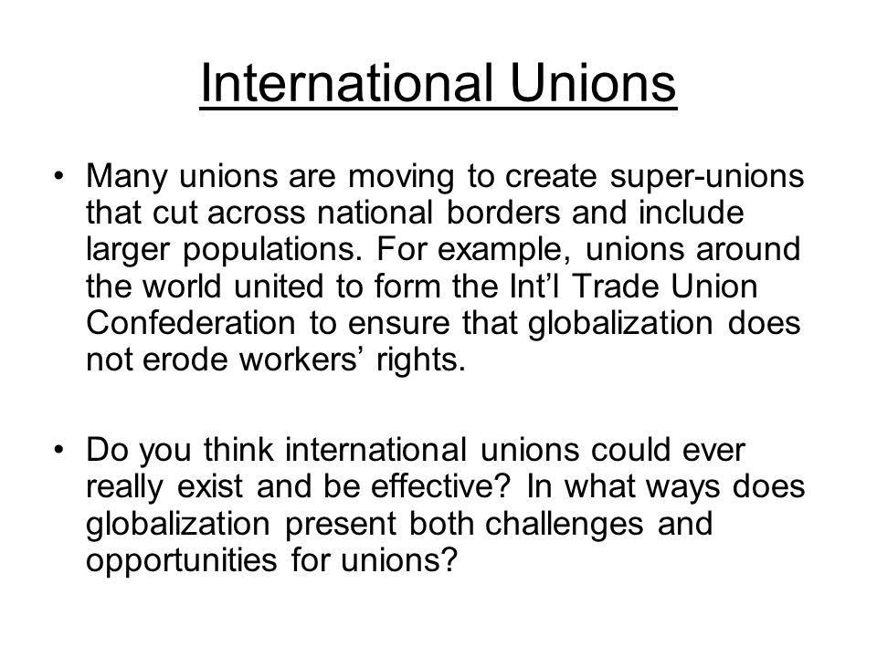 International Unions