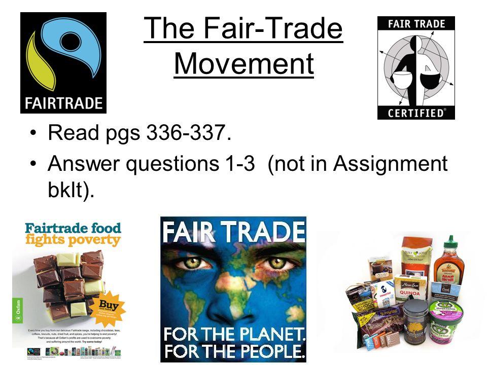 The Fair-Trade Movement