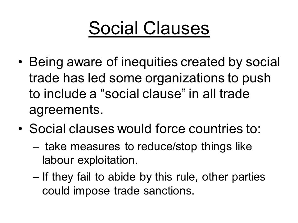 Social Clauses
