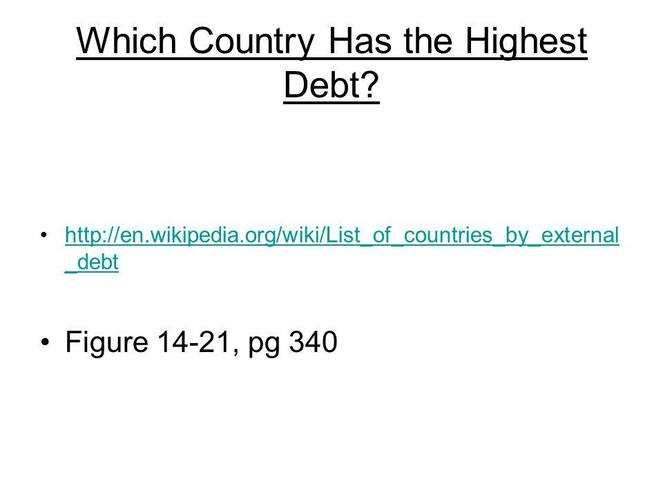 Which Country Has the Highest Debt