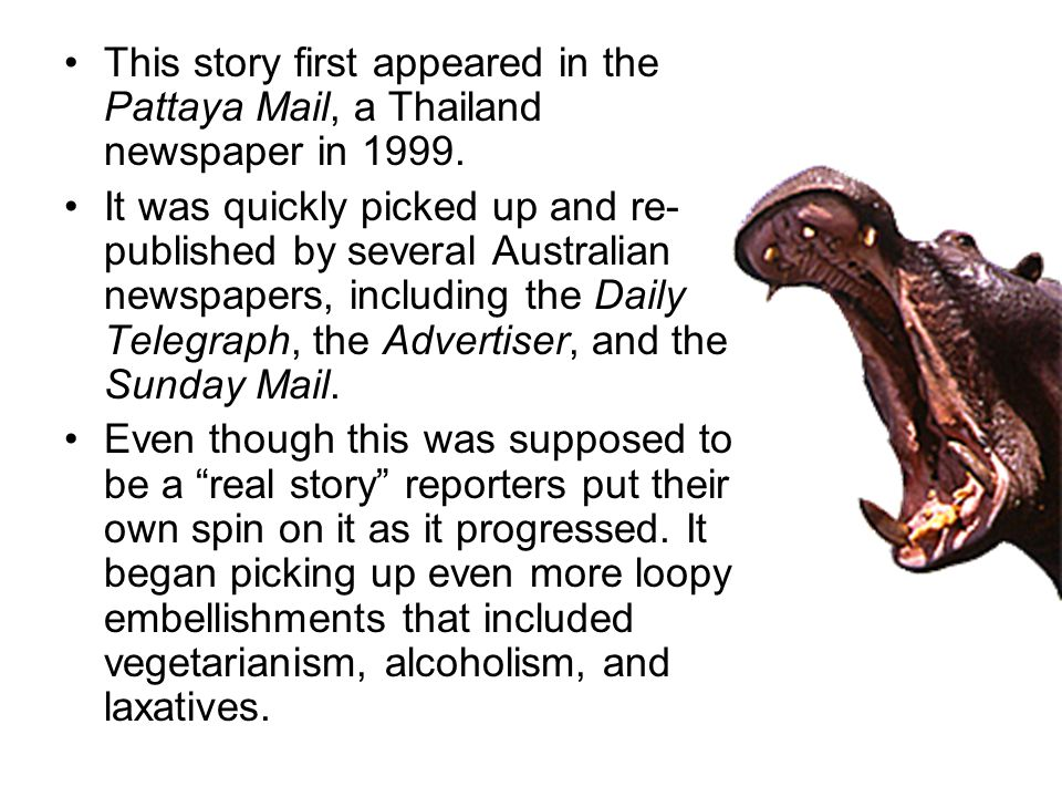 This story first appeared in the Pattaya Mail, a Thailand newspaper in 1999.