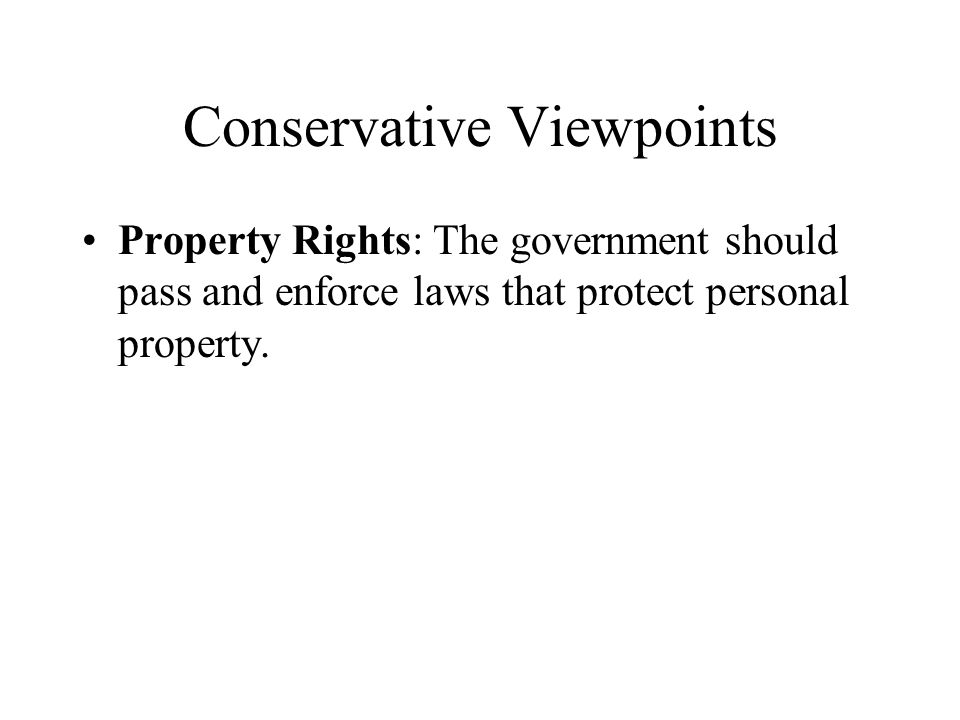 Conservative Viewpoints