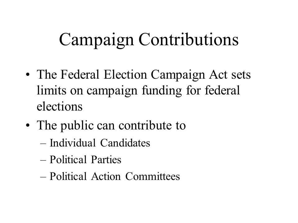 Campaign Finance Database - Contributions Records ...