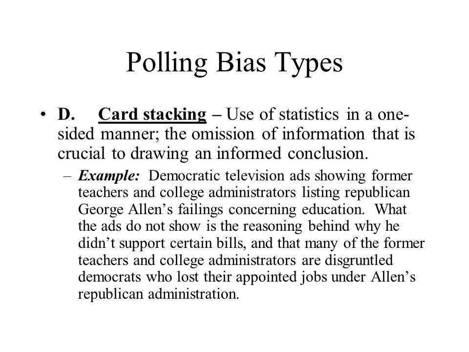 Polling Bias Types