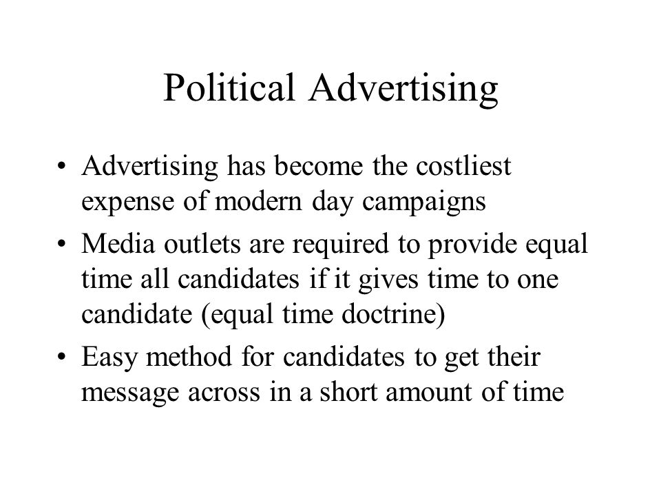 Political Advertising