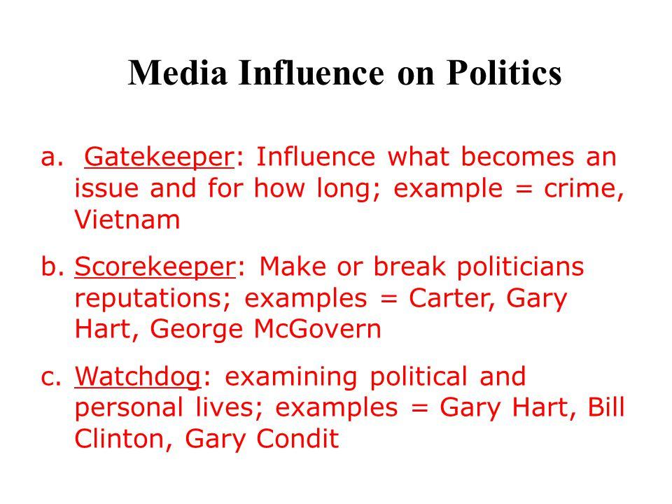 Media Influence on Politics
