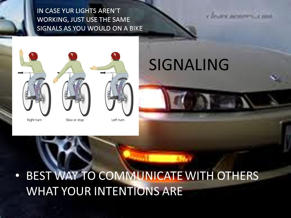 SIGNALING BEST WAY TO COMMUNICATE WITH OTHERS WHAT YOUR INTENTIONS ARE