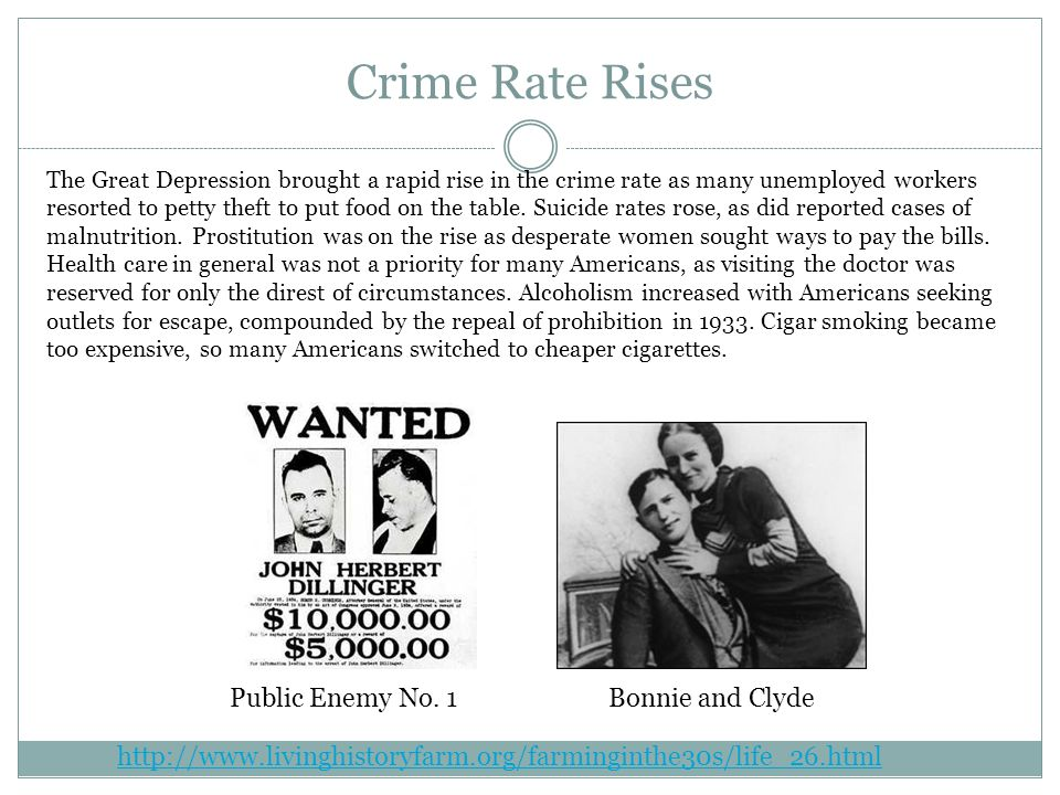 Crime Rate Rises Public Enemy No. 1 Bonnie and Clyde