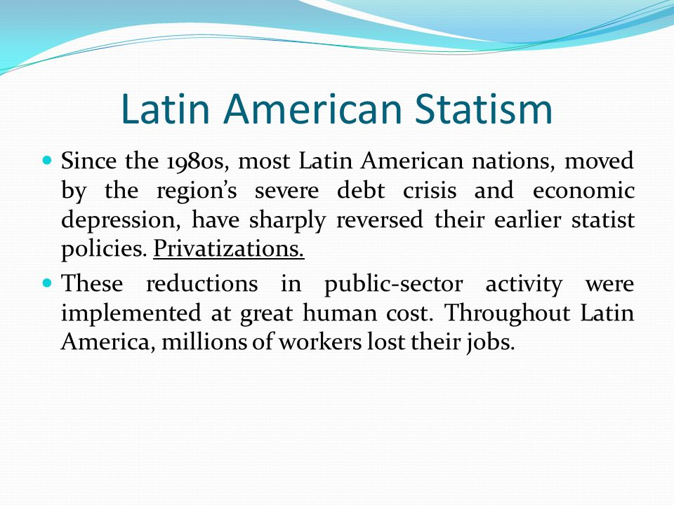 the latin american debt crisis of the 1980s essay Causes for 1980s debt crisis essay  the latin america debt crisis what happened both internal and external for latin americas roller coaster.