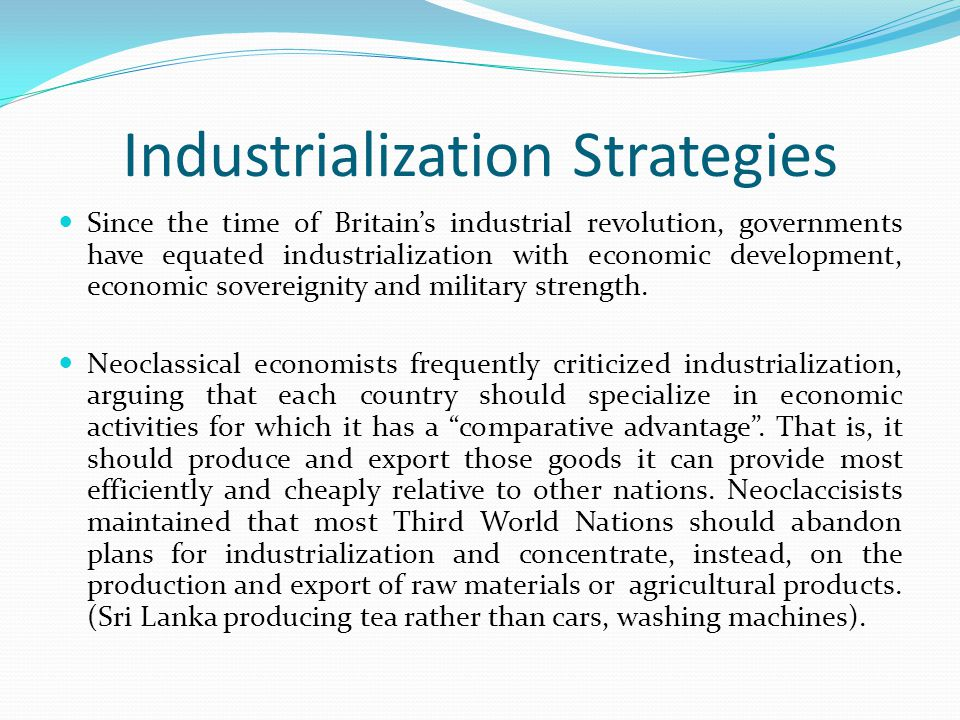 Industrialization Strategies