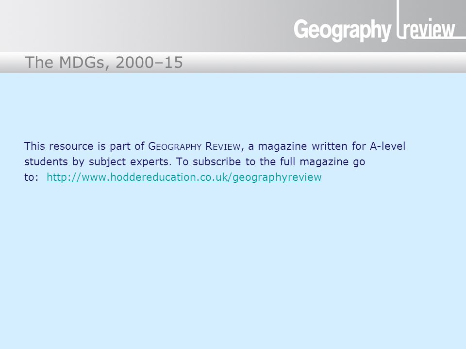 This resource is part of Geography Review, a magazine written for A-level students by subject experts.