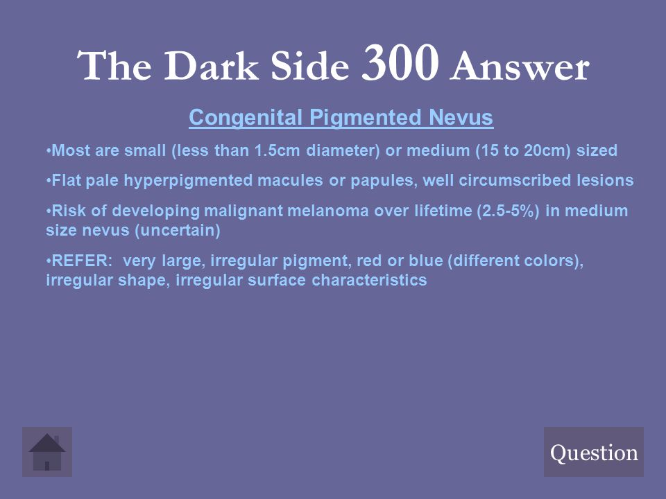 Congenital Pigmented Nevus