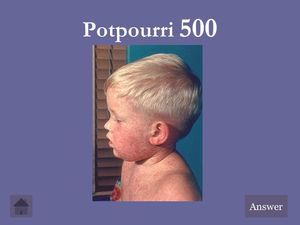 Potpourri 500 Answer