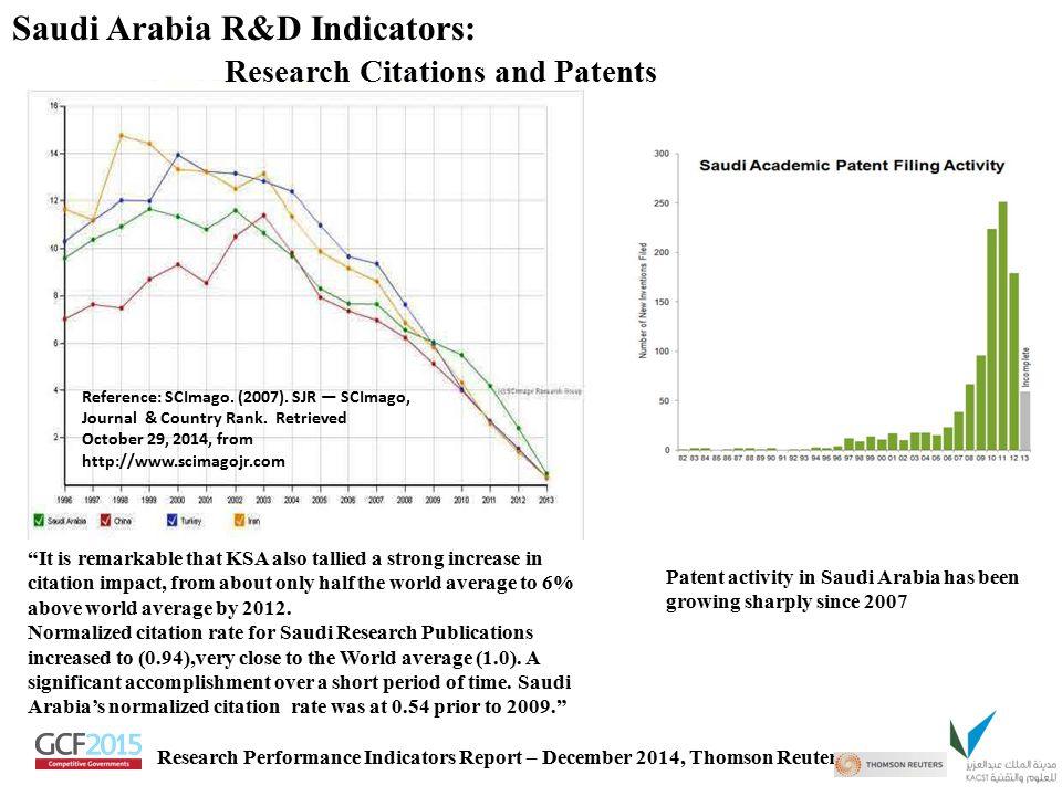Saudi Arabia R&D Indicators: Research Citations and Patents