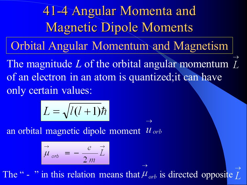 41-4 Angular Momenta and Magnetic Dipole Moments