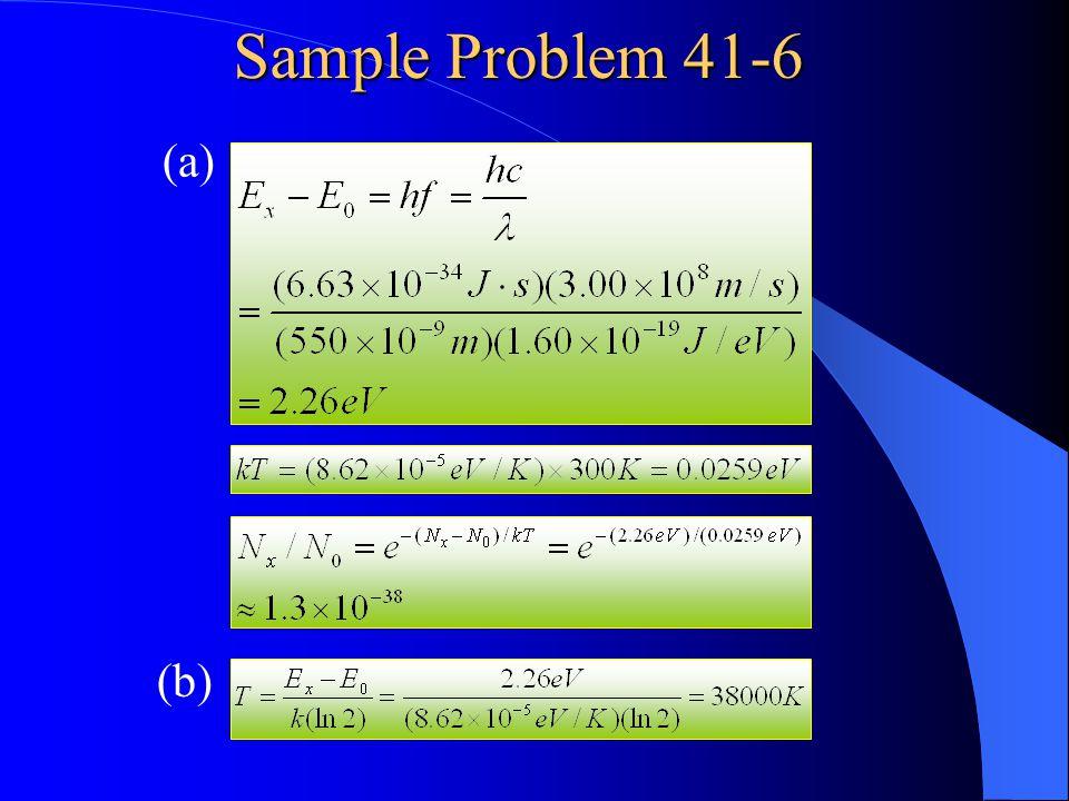 Sample Problem 41-6 (a) (b)