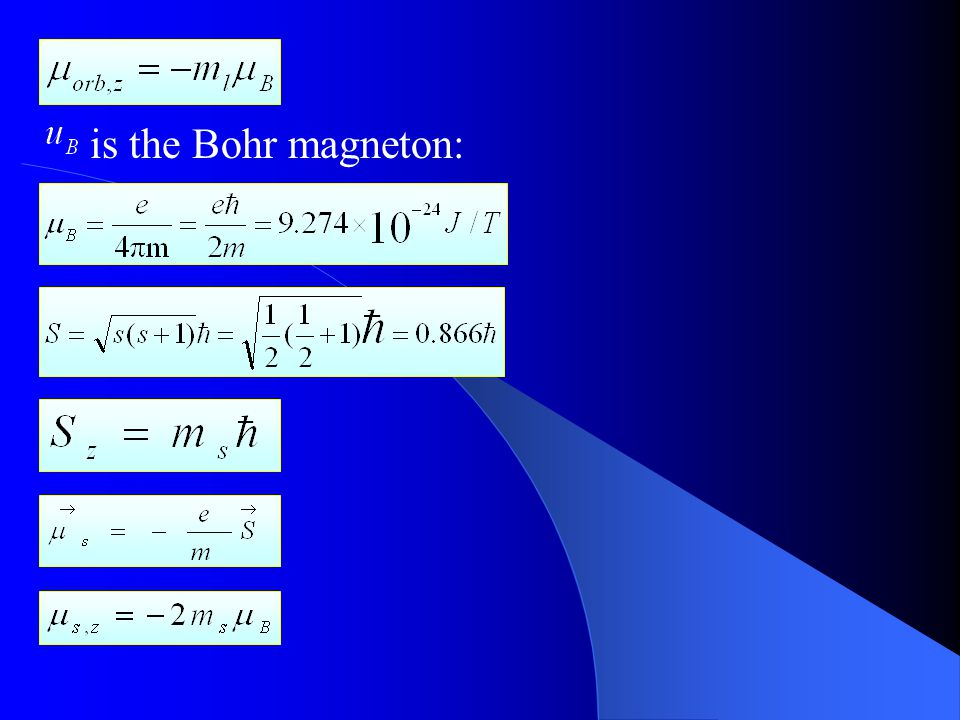 is the Bohr magneton: