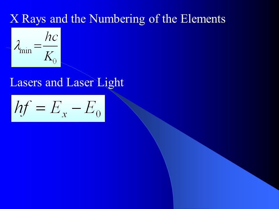 X Rays and the Numbering of the Elements