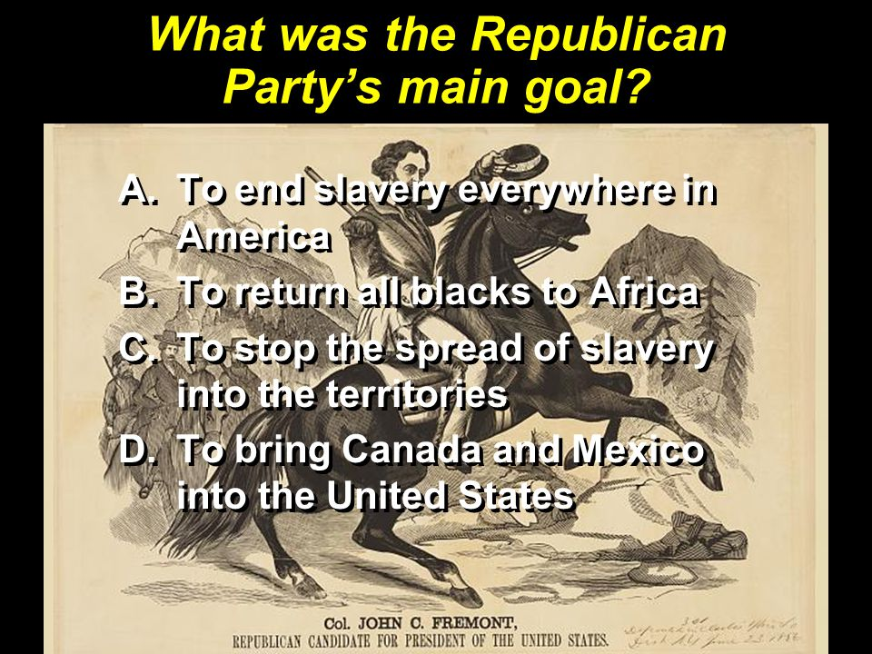 What was the Republican Party's main goal
