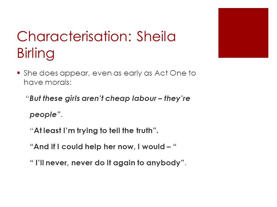 Characterisation: Sheila Birling