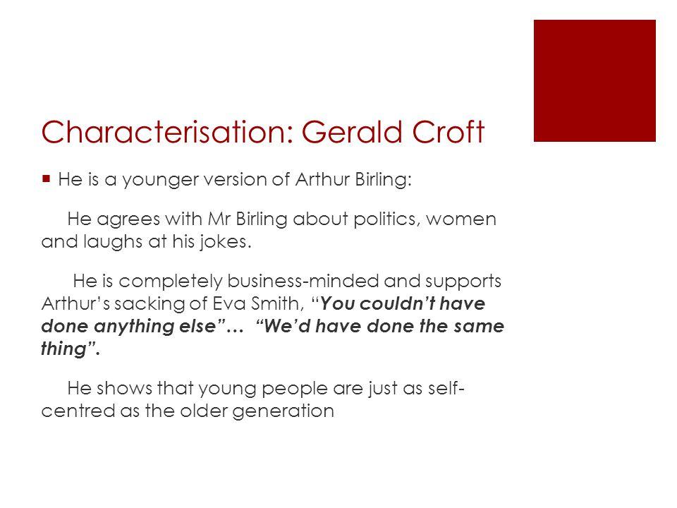 Characterisation: Gerald Croft