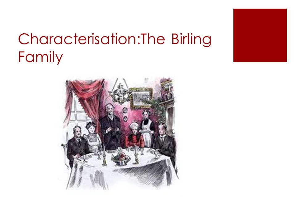 Characterisation:The Birling Family