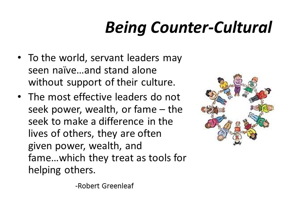 Being Counter-Cultural